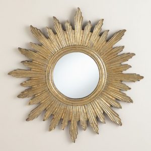 World Market sunburst mirror