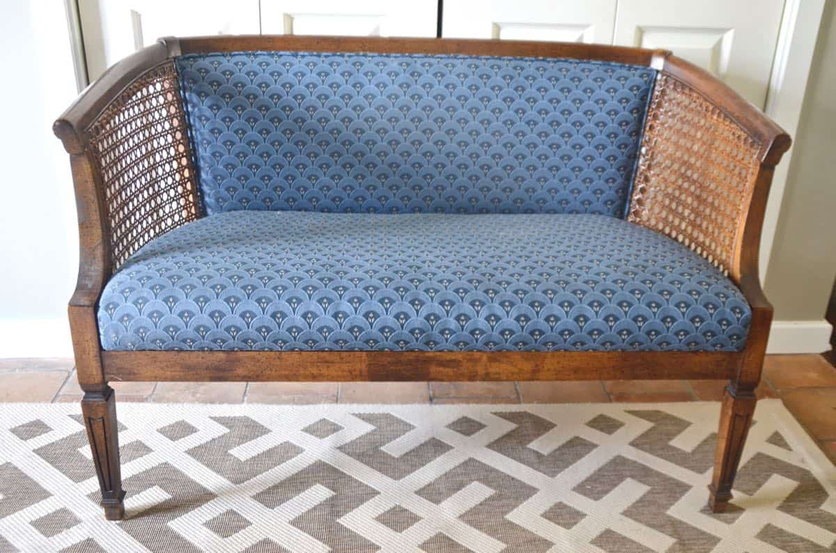 Refinished Cane Loveseat