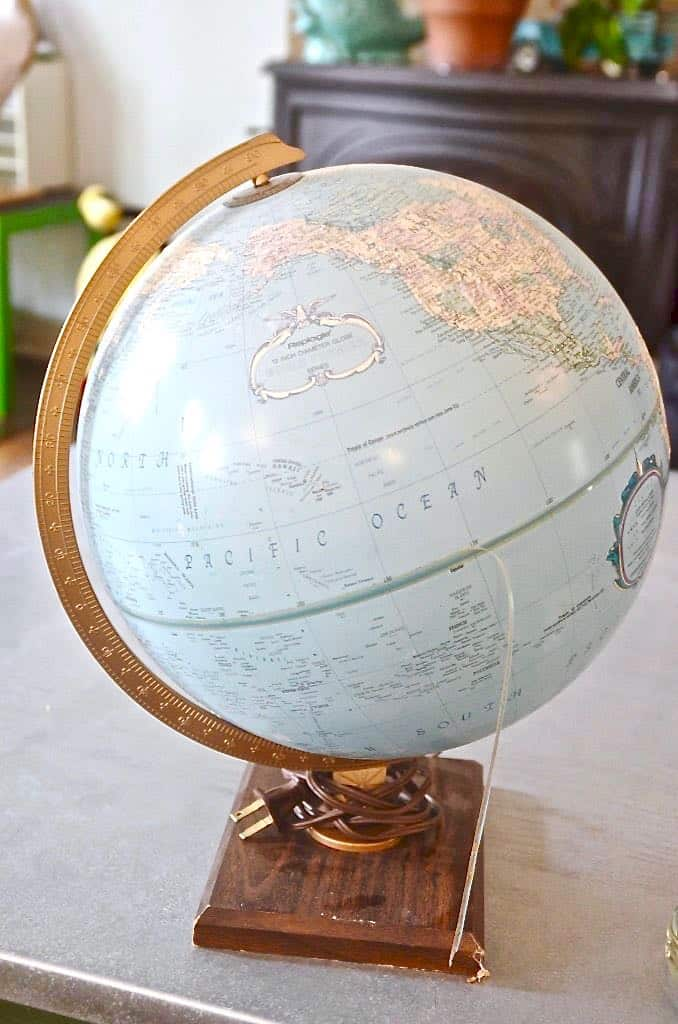Turning a thrifted classroom globe into a functional and decorative bowl.