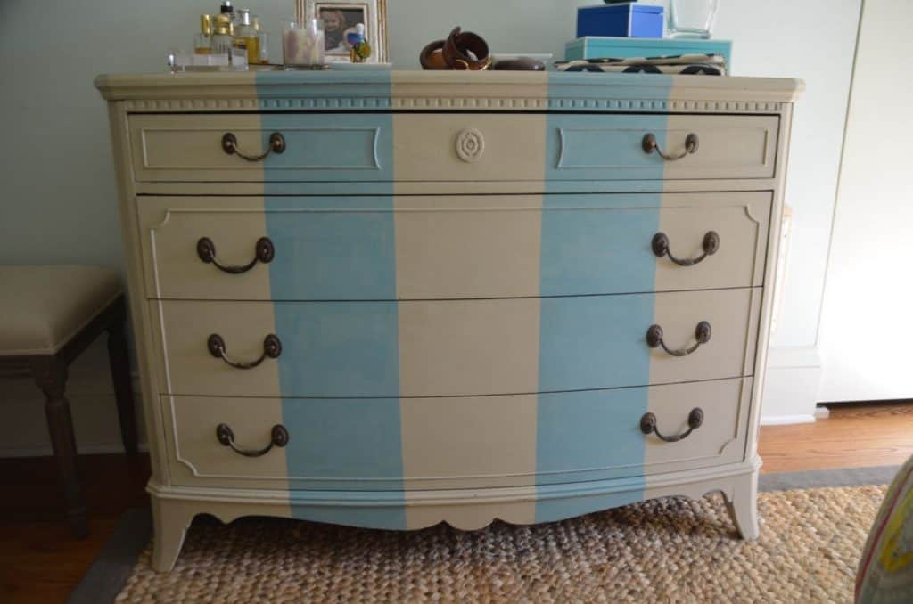 Striped Dresser Makeover