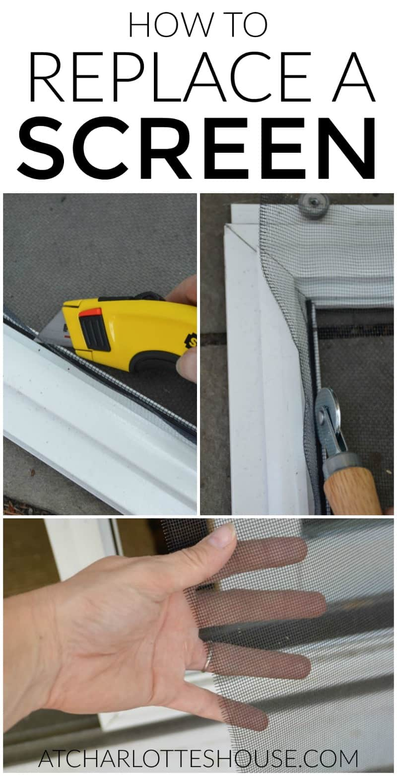 How to replace the screen in a screen door or window for How to install replacement windows