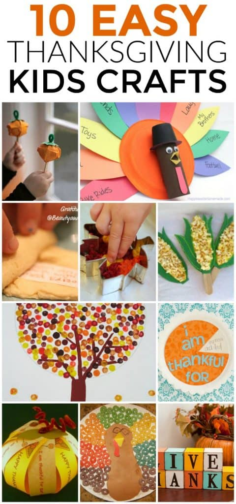 How To Keep Your Thanksgiving Sanity: 10 Easy Kids Crafts