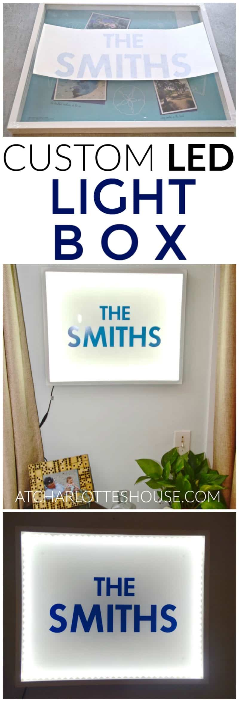 Use a shadow box frame and LED light strips to make a custom and cool lightbox.