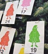 paper bag advent calendar