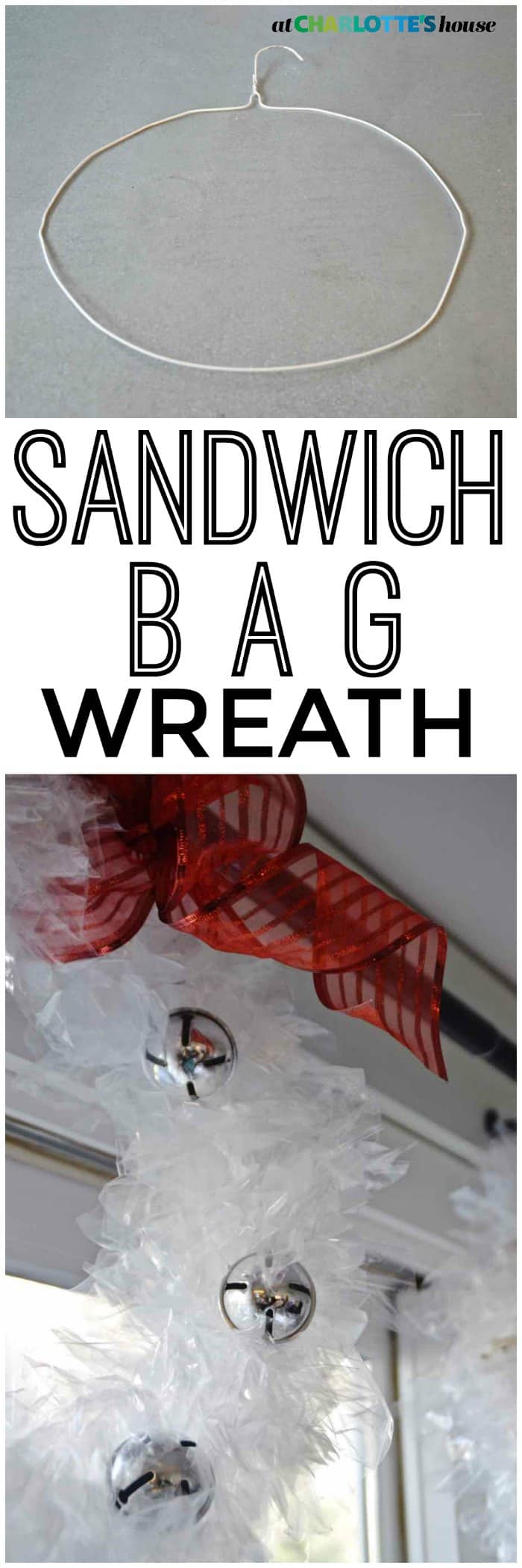 Use plastic sandwich bags to make these fun unexpected Christmas wreaths.