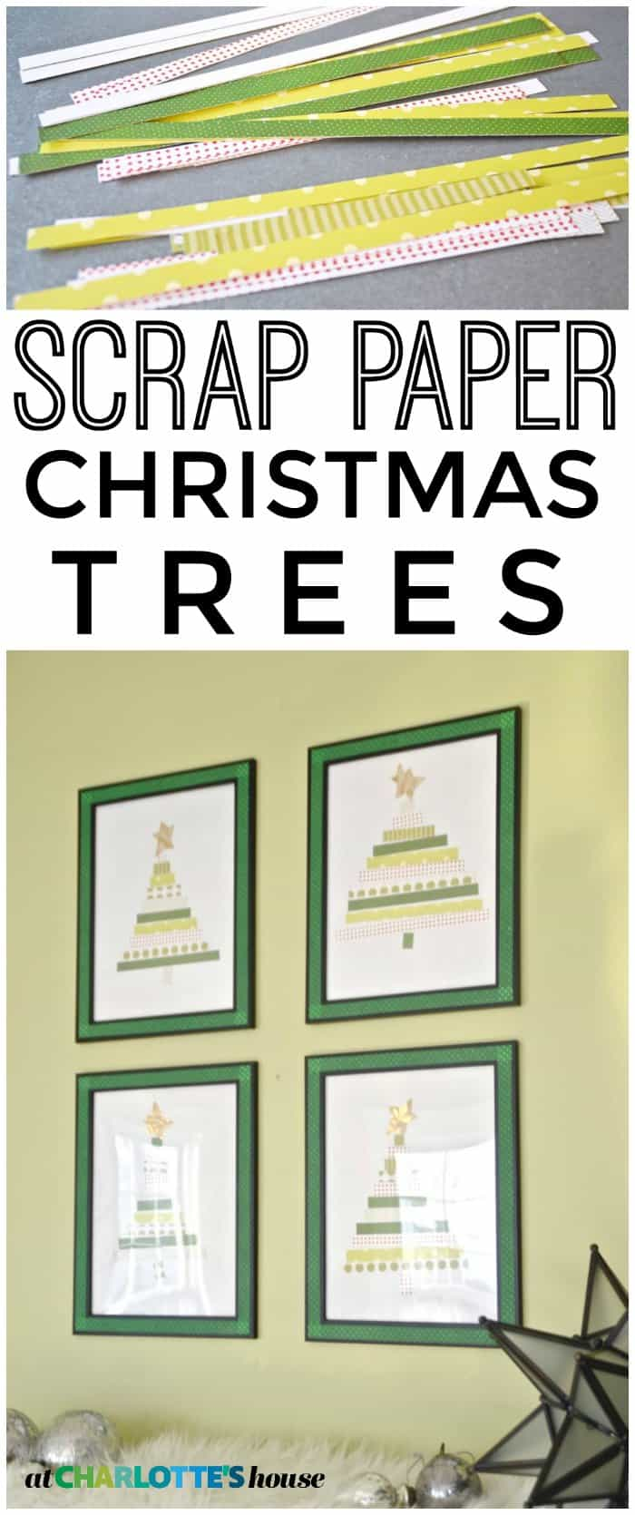 Use your old scrap paper to make these fun Christmas trees.