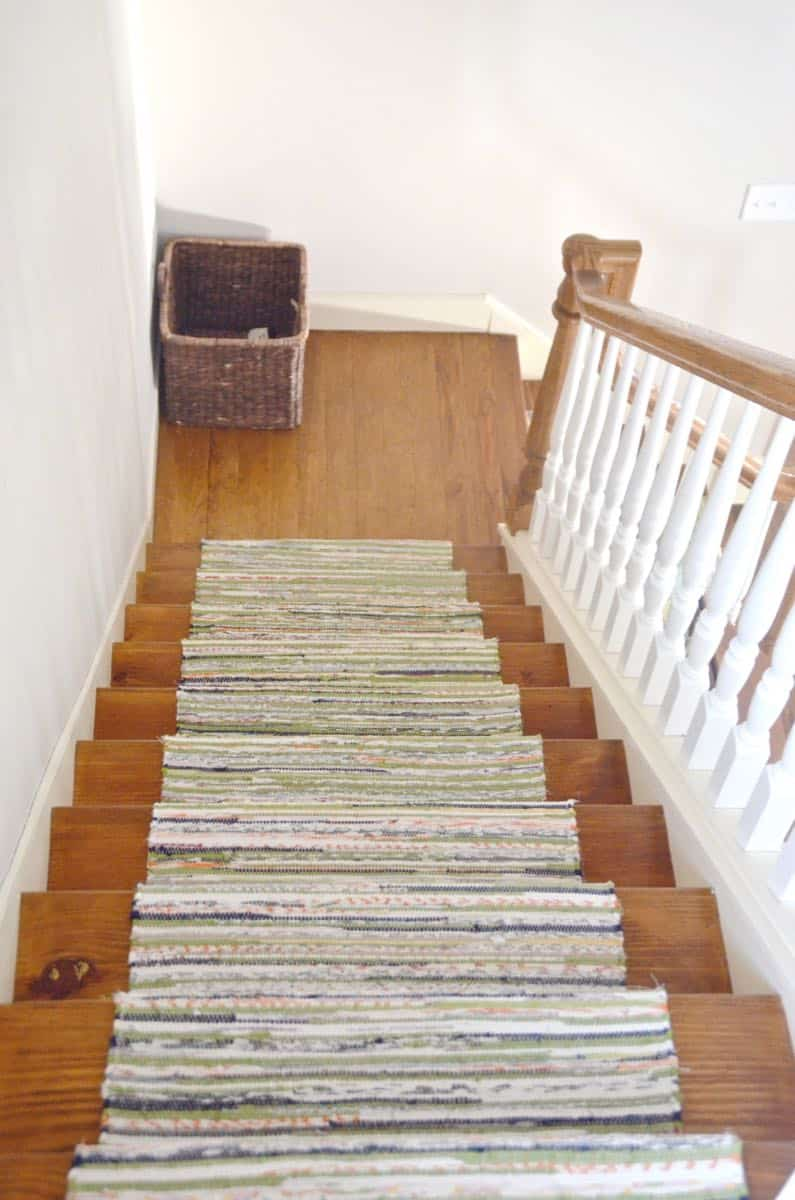 We Installed This Custom Stair Runner For Under $50.