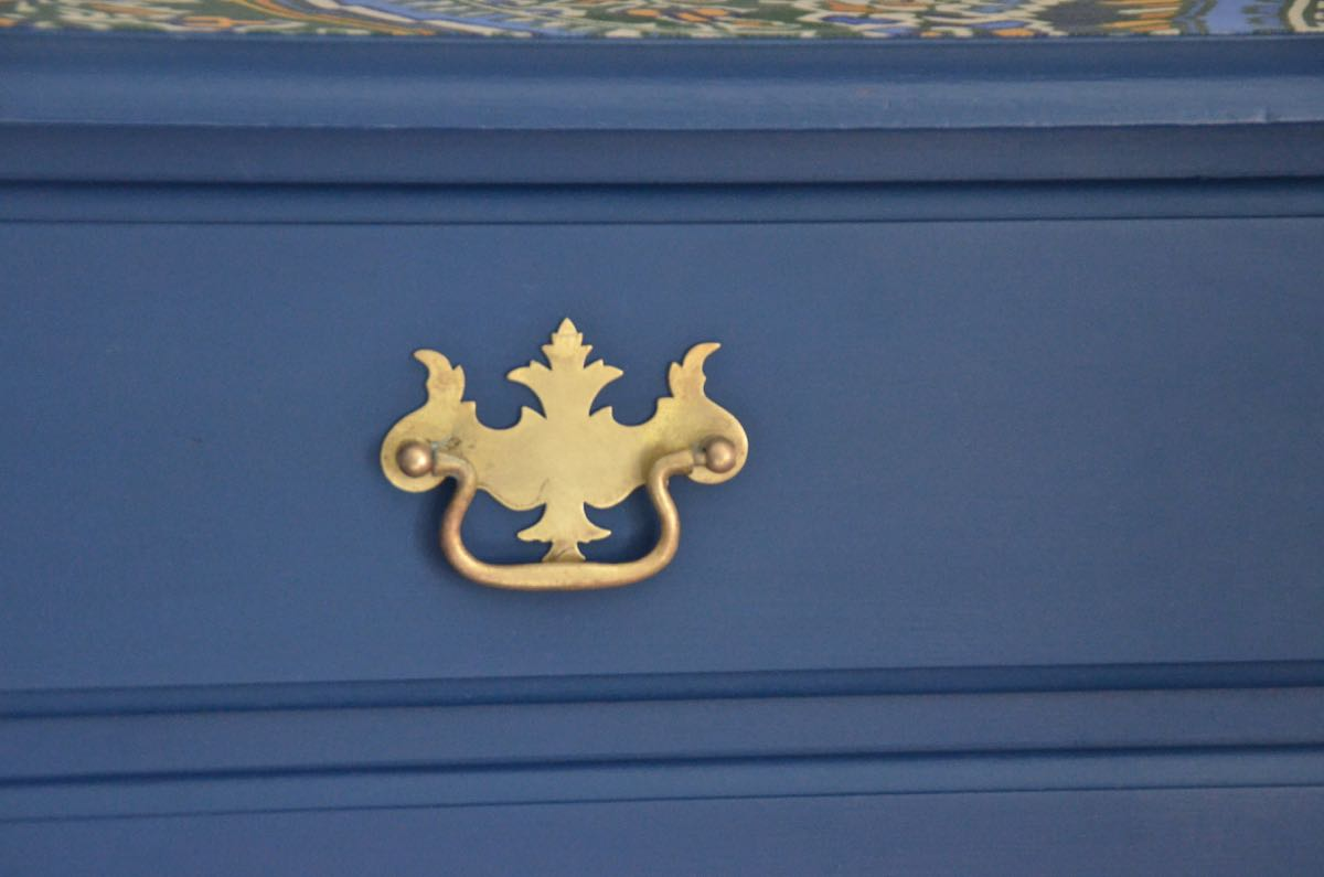 Fabric Topped Dresser Makeover