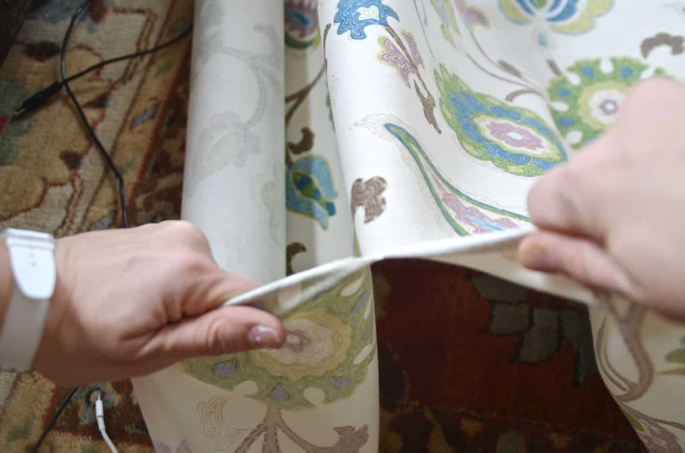 DIY lined curtain panels