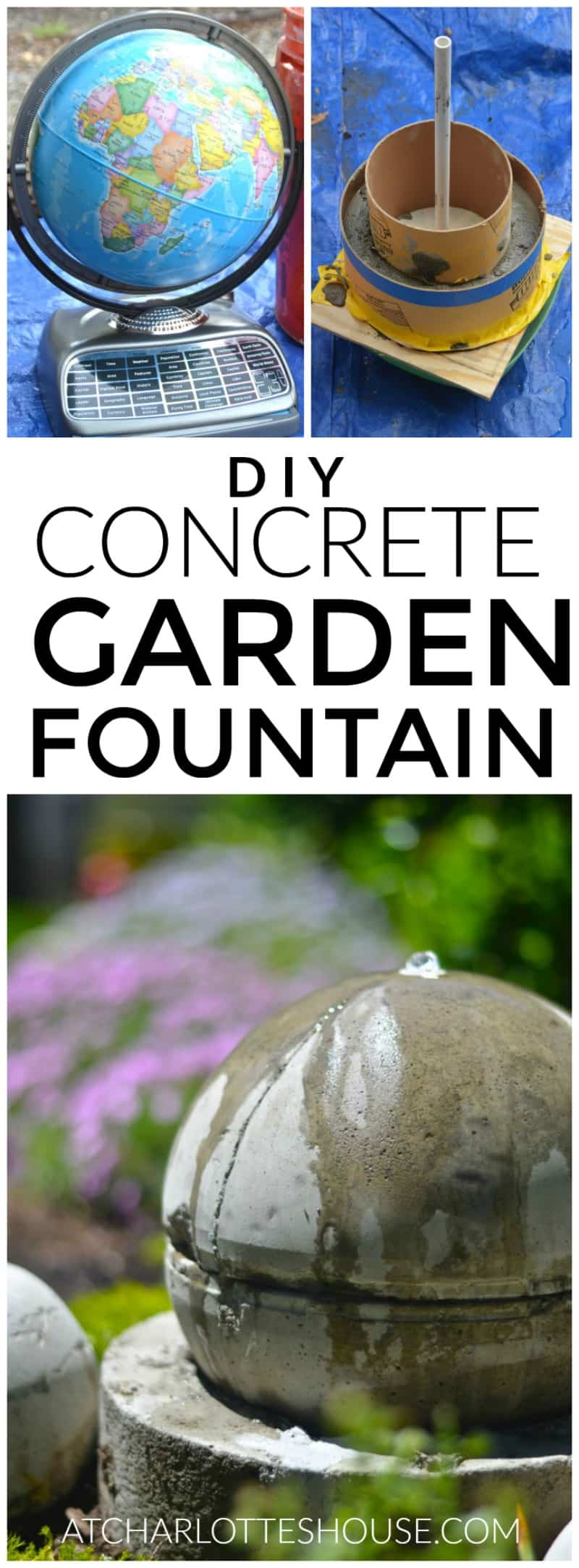 Easy tutorial for making a sturdy and chic bubbllng garden fountain.