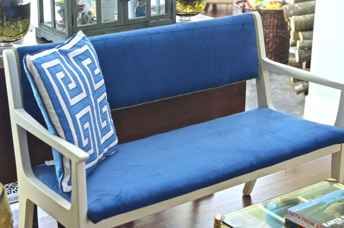 Turn A Wooden Bench Into An Upholstered Loveseat. Part 69
