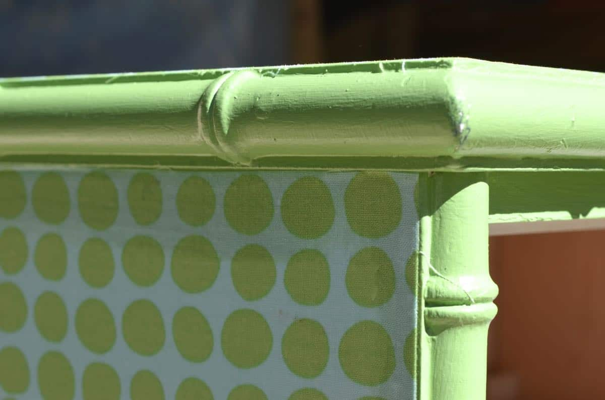 Easy way to upcycle and refinish furniture with fabric.