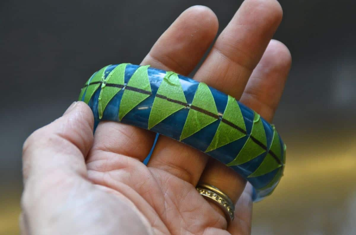 Easy DIY graphic painted bracelets