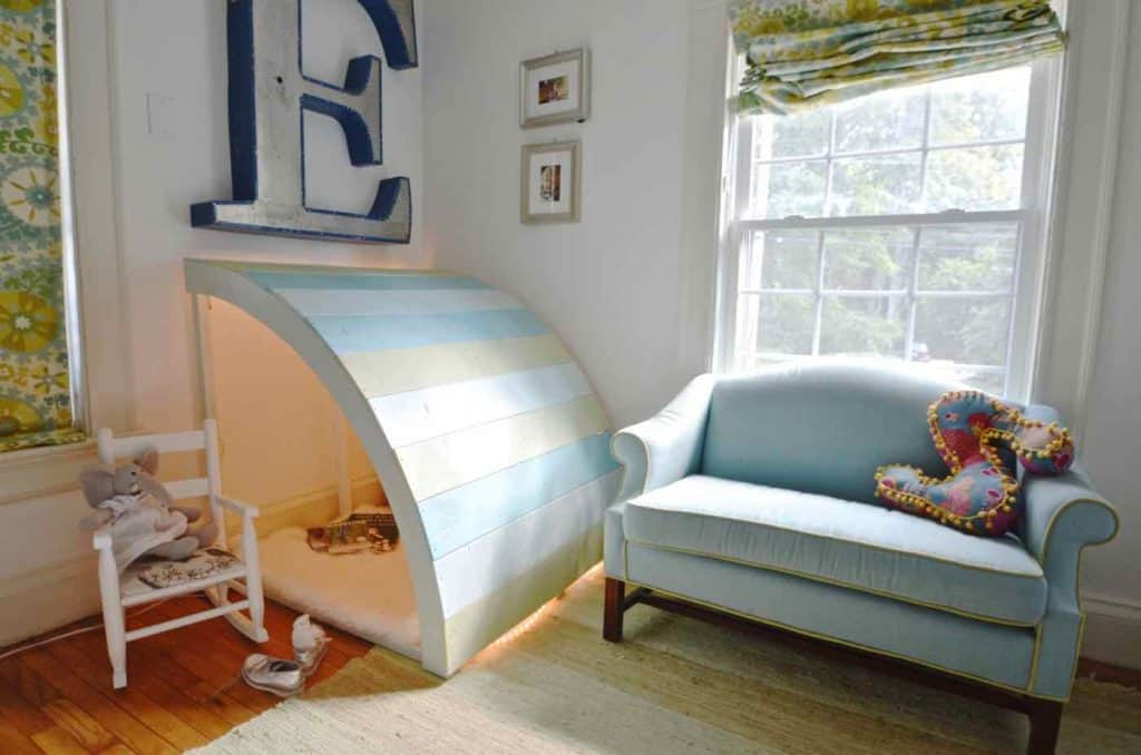 Plywood Kids Reading Nook