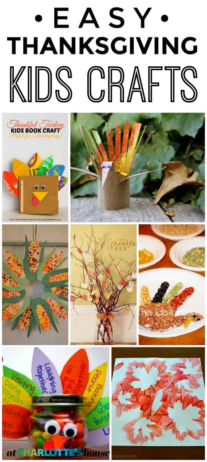 Easy Thanksgiving kids crafts