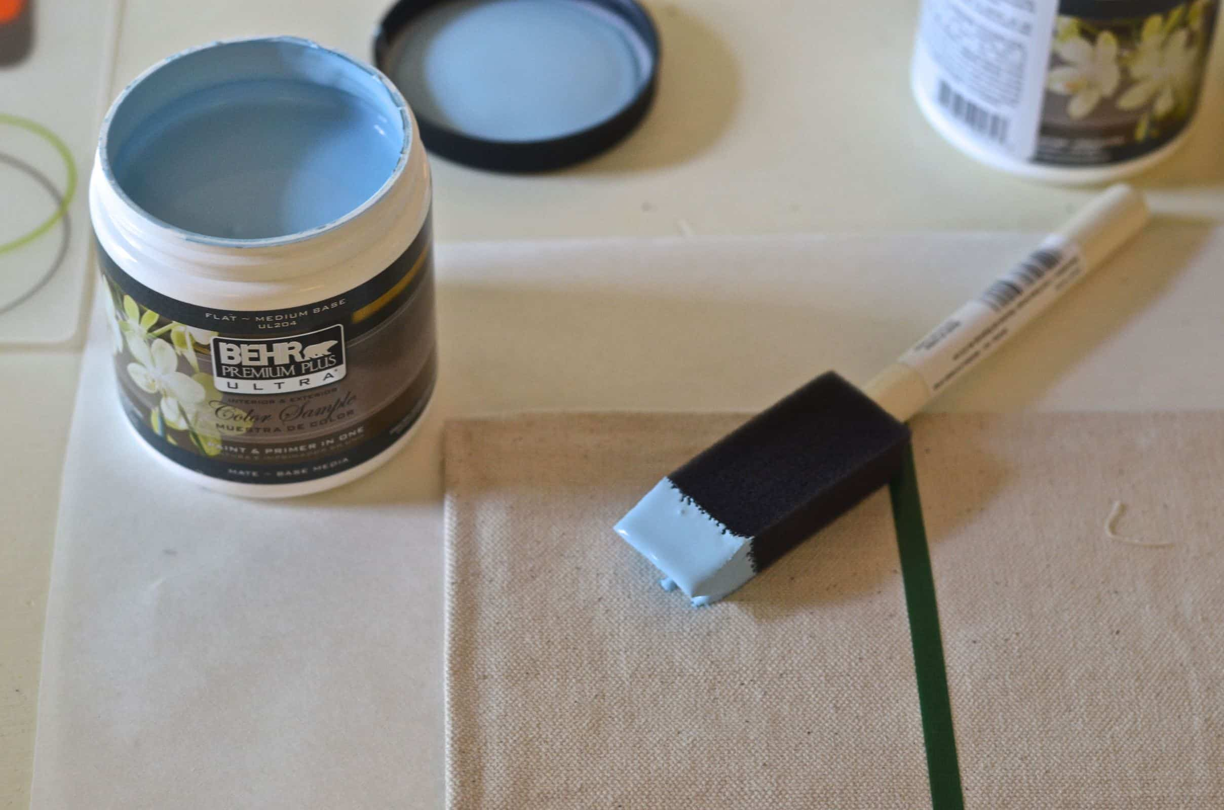 DIY drop cloth paint swatch placemats