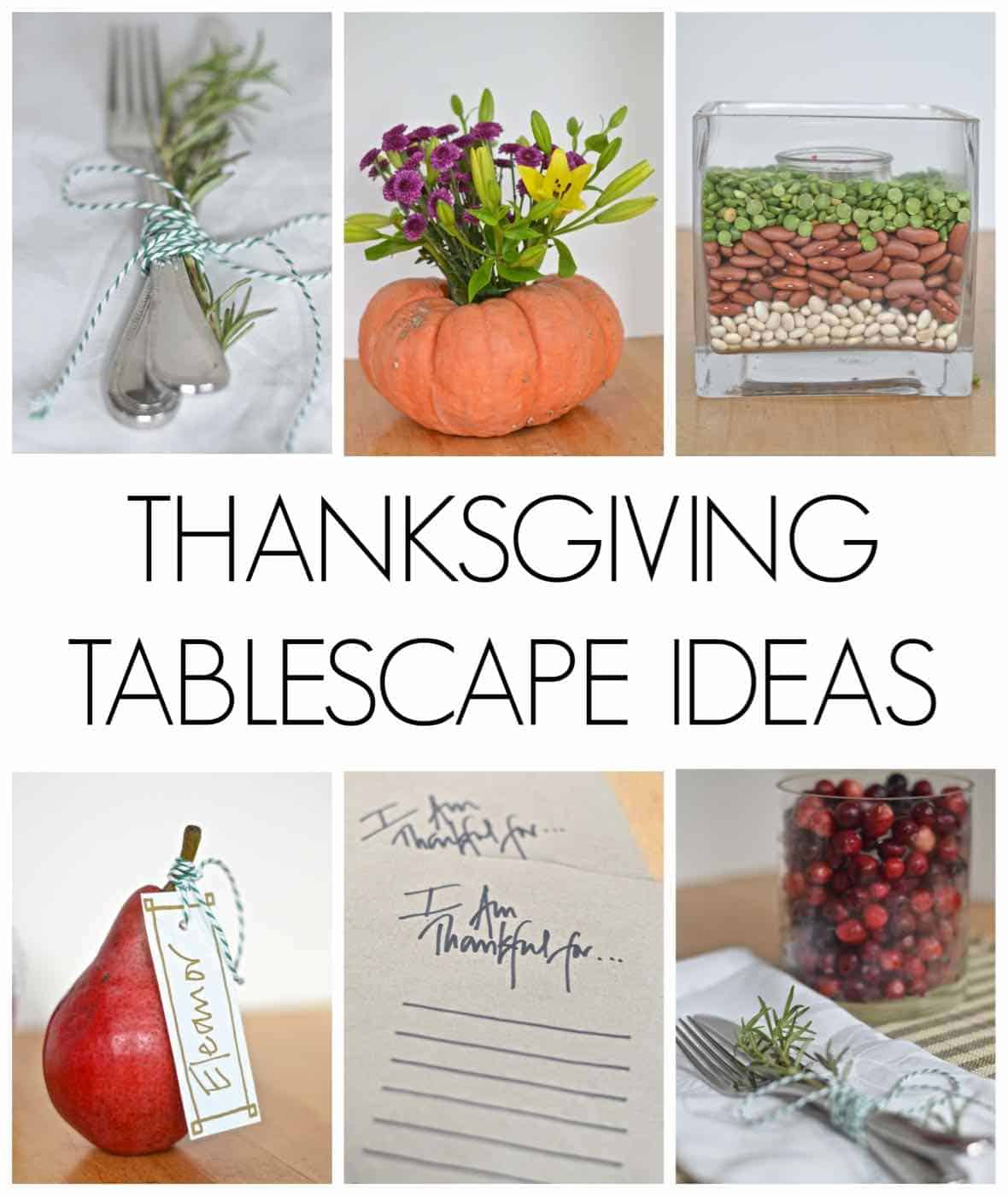 Thanksgiving tablescape ideas at charlotte 39 s house for Easy cheap thanksgiving decorations