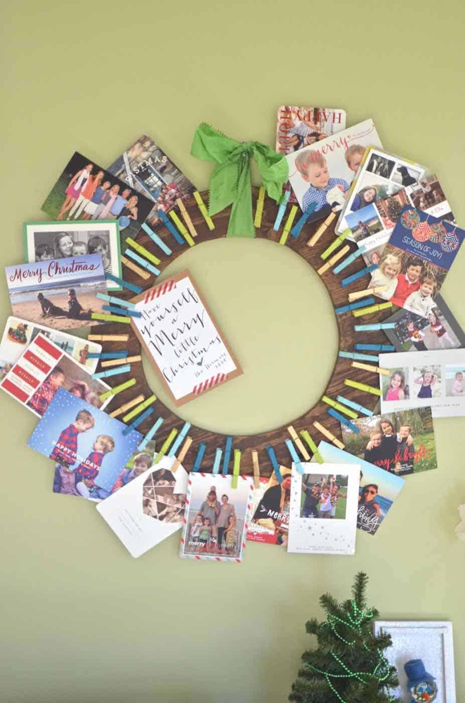 Plywood Card Wreath