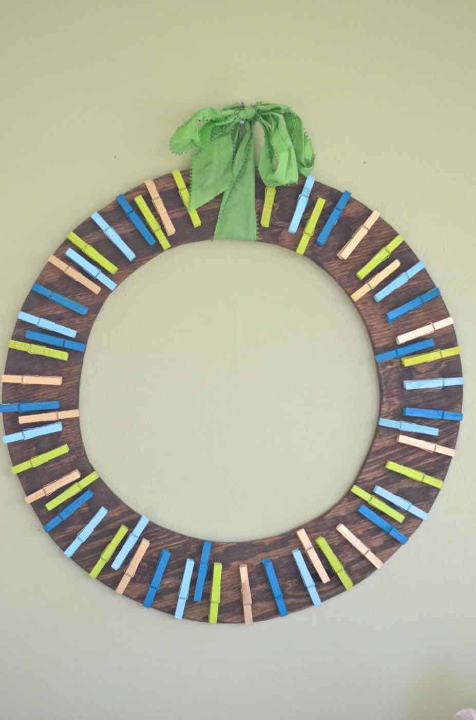 Plywood Card Wreath