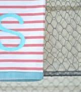 Embossed monogrammed hand towel.