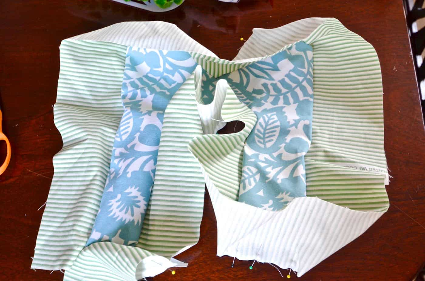 DIY hand sewn fabric letter pillow