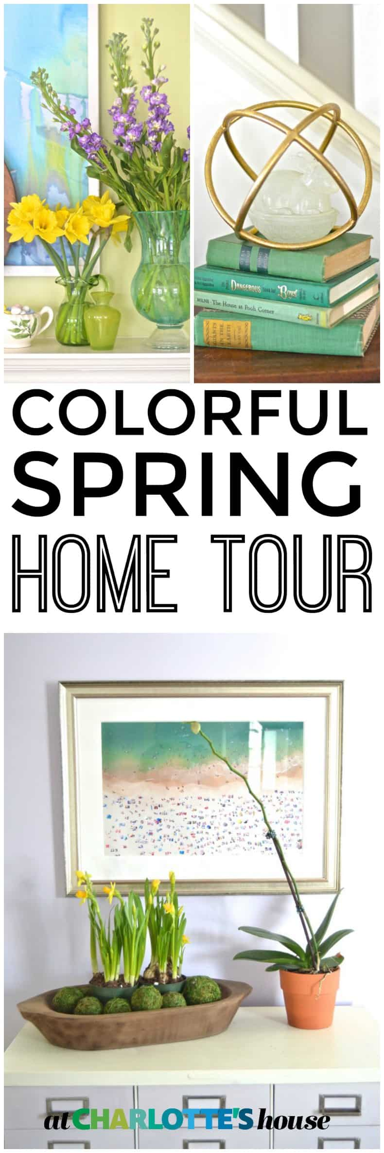 Colorful and thrifted Spring home tour.