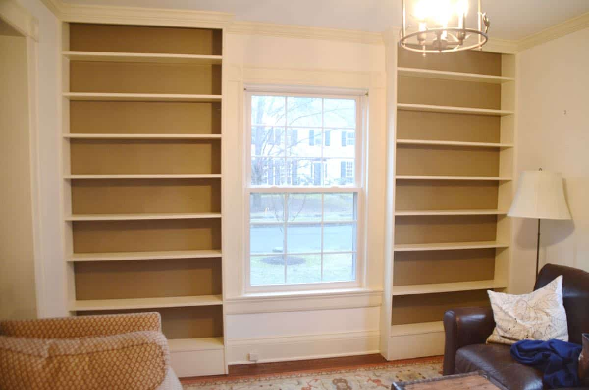transforming ikea billy bookshelves into upscale looking built in shelving - Ikea Billy Bookshelves