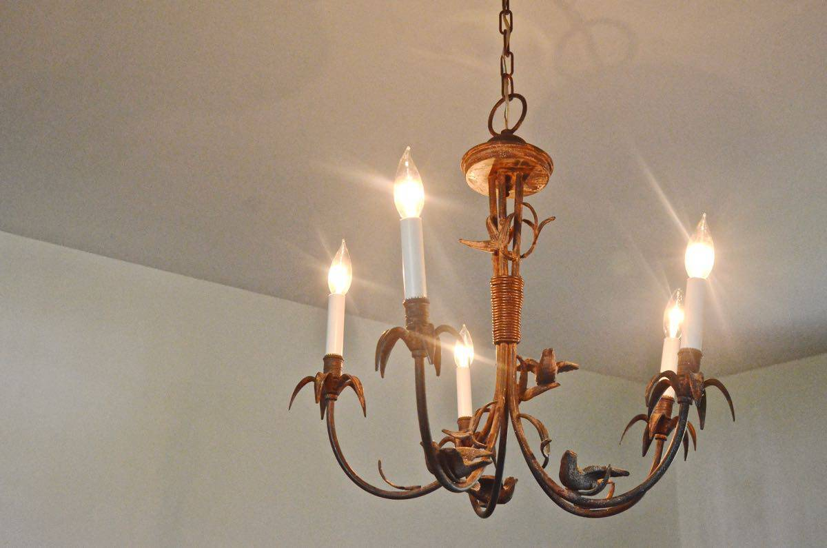 Rewiring a Chandelier | At Charlotte\'s House
