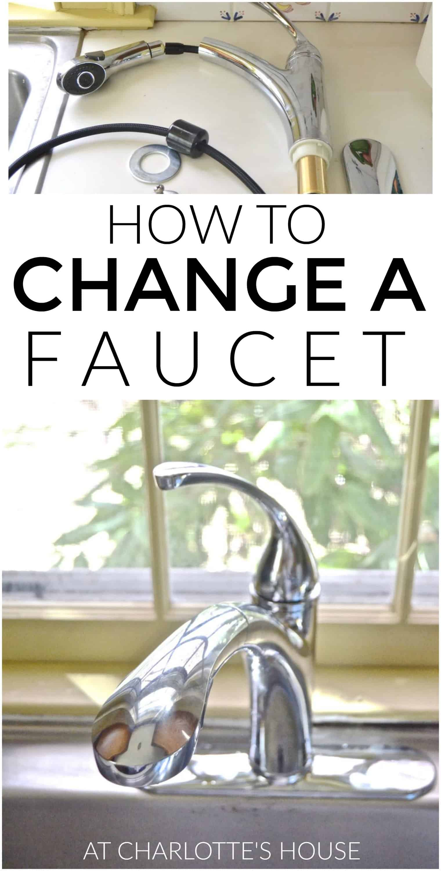 how to replace a faucet... it's not that hard!