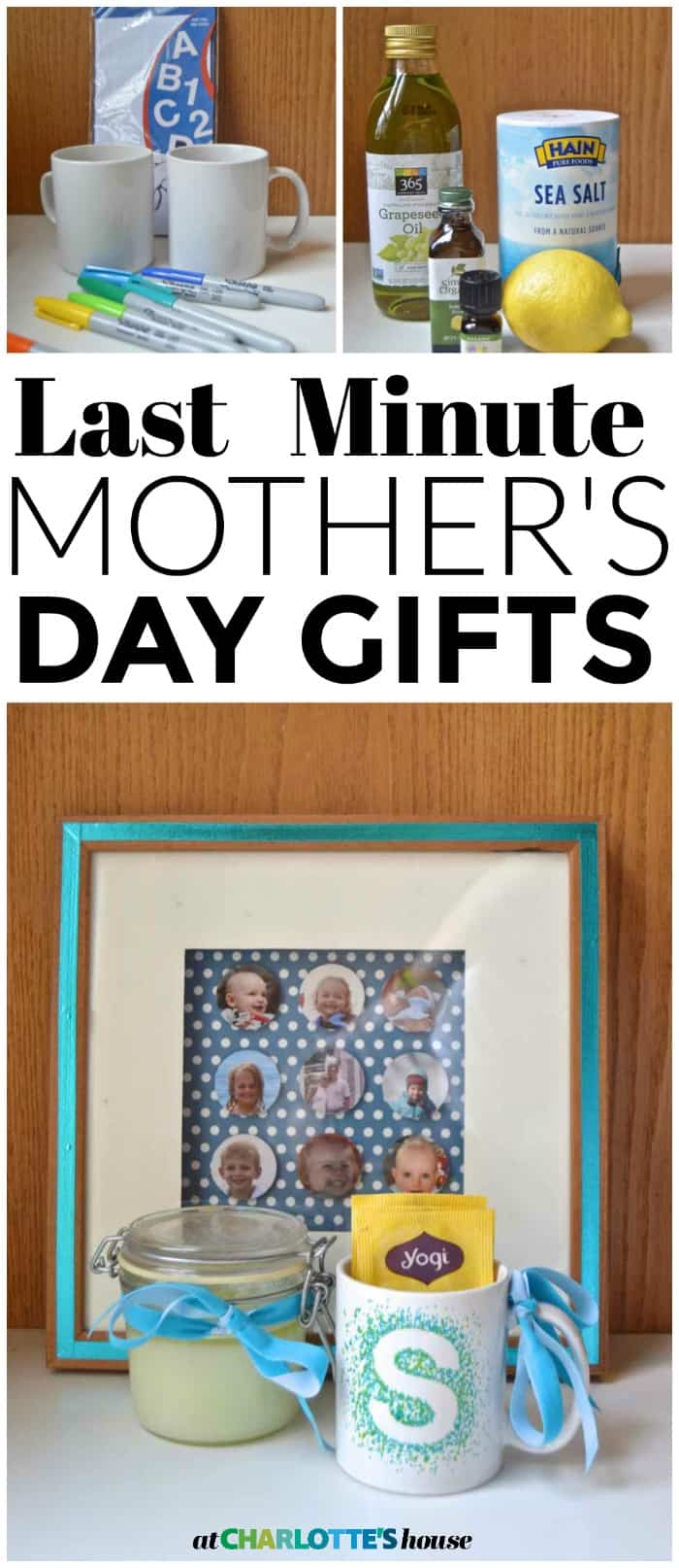 Easy DIY last minute spa gifts... perfect for Mother's Day.
