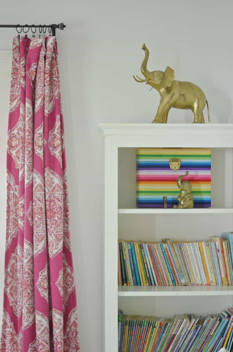Bright and eclectic fuchsia girls bedroom