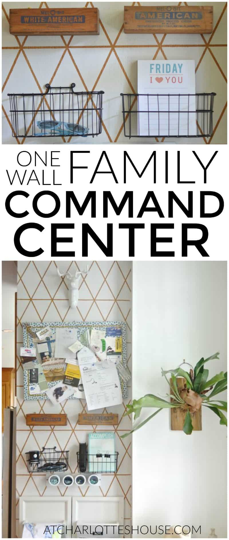 What a great way to organize an entire family using only one small wall in our kitchen!