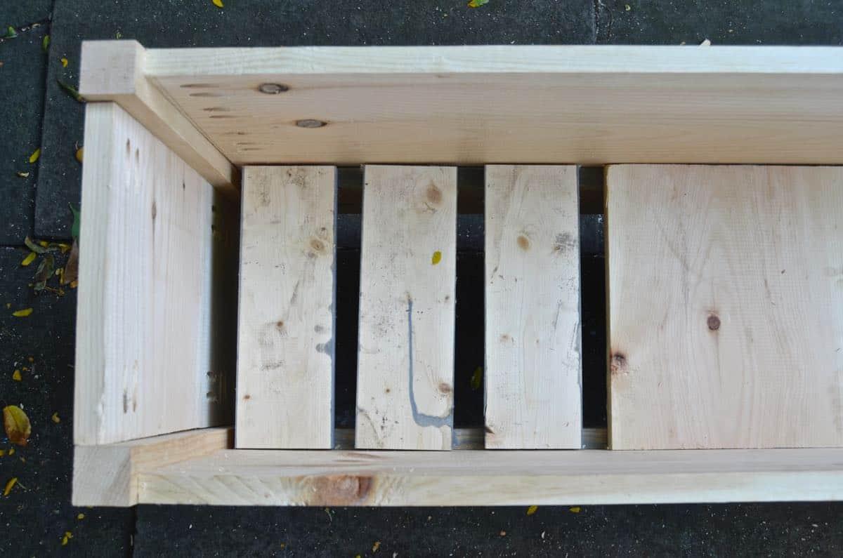 How to build wooden faux metallic zinc planters.