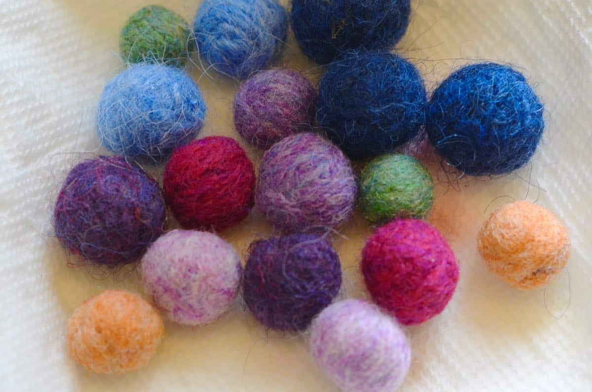 Use scrap wool to make these adorable Felted Wool acorns