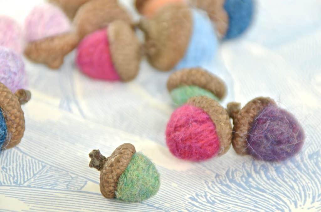 Scrap Yarn Acorns