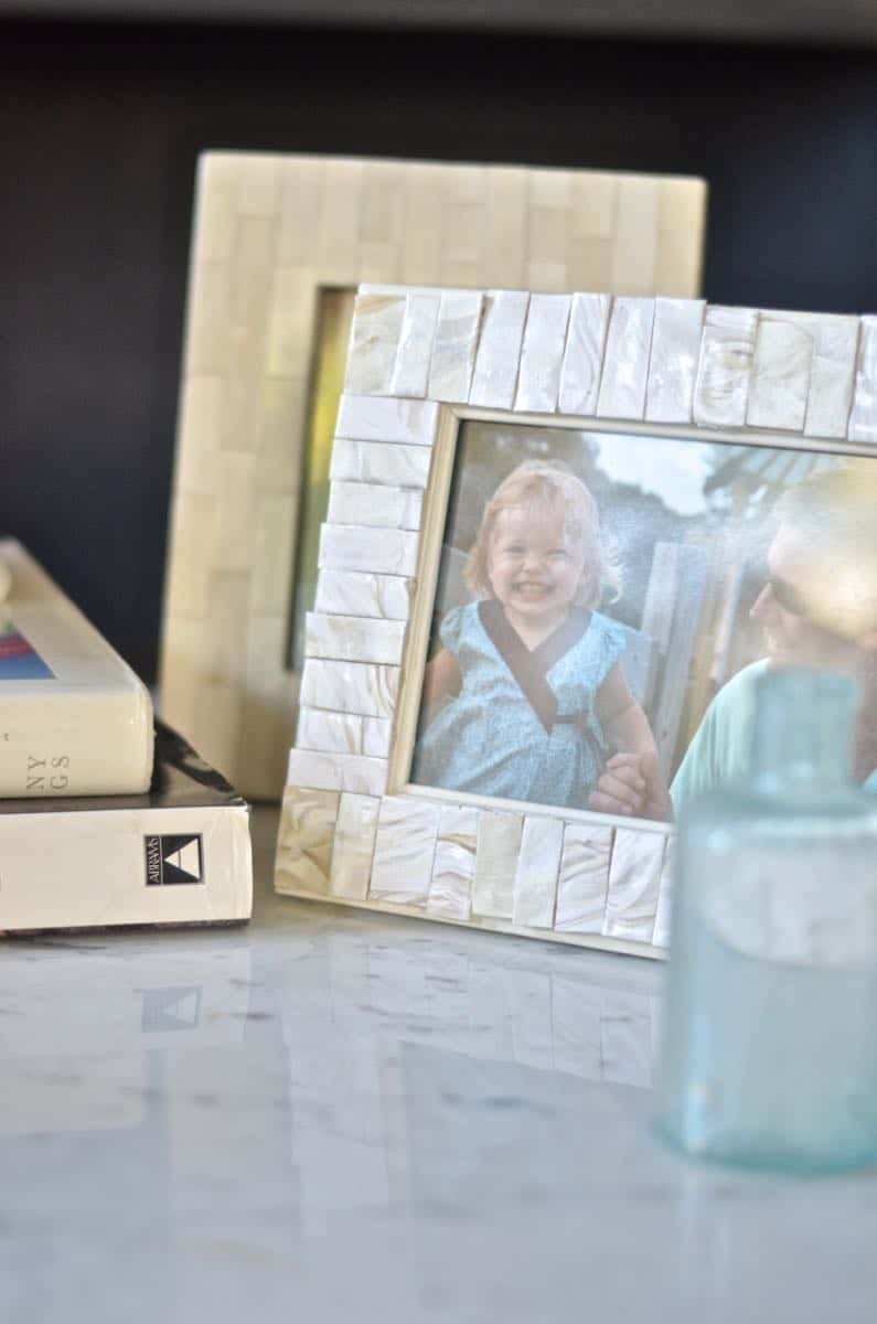 DIY imitation capiz shell frame