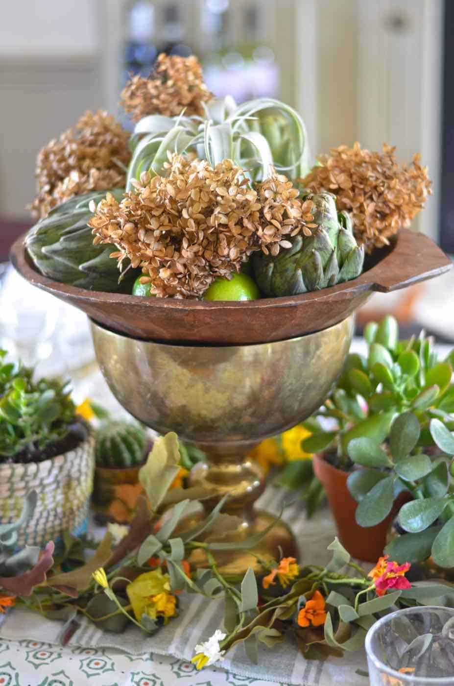 thanksgiving-tablescape-greenery-and-vegetables-19 - At ...