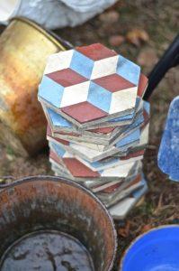 hexagonal-painted-tiles