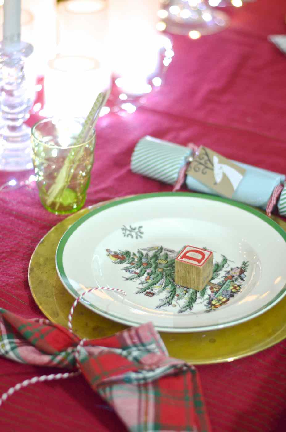Christmas tablescape ready for children.
