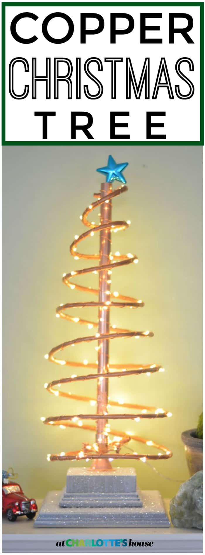 DIY spiral copper Christmas tree.