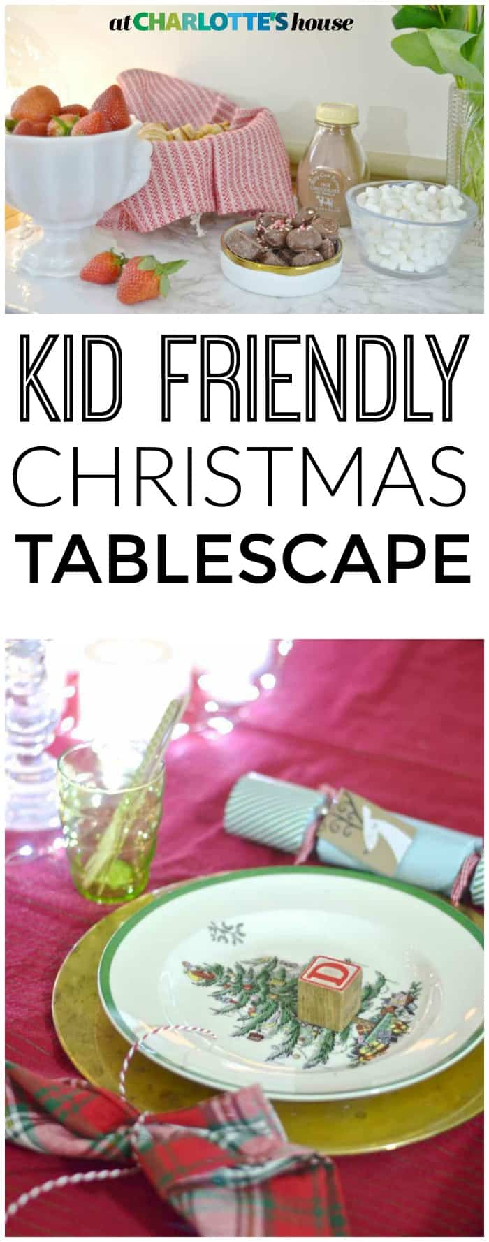 Setting a fun table doesn't have to be complicated when children are involved... this table is festive and kid friendly!