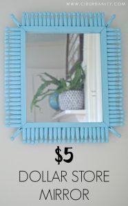 $5 Dollar Store Mirror