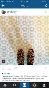 Instagram floor
