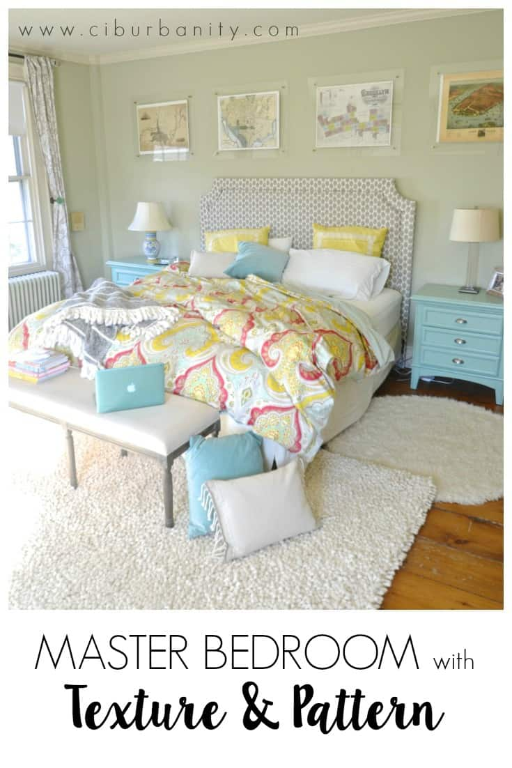 Master bedroom texture pattern