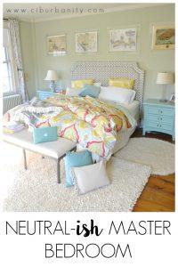 Neutral-ish master bedroom