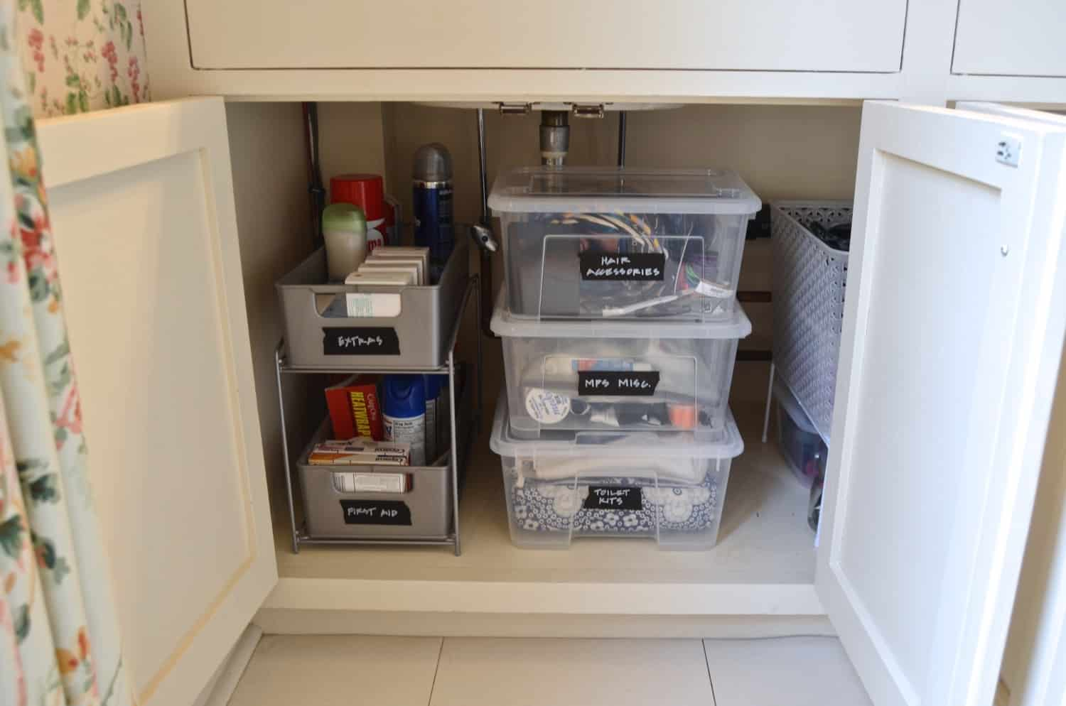 bathroom under the sink storage how to organize a bathroom sink 22452