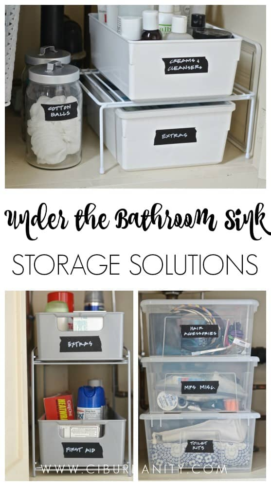 kitchen under sink storage solutions how to organize a bathroom sink 8690
