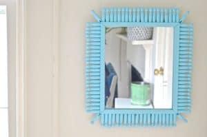 aqua dollar store mirror