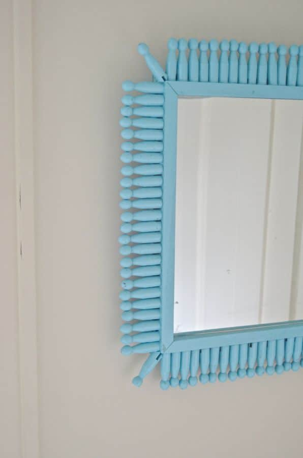 detail of dollar store mirror