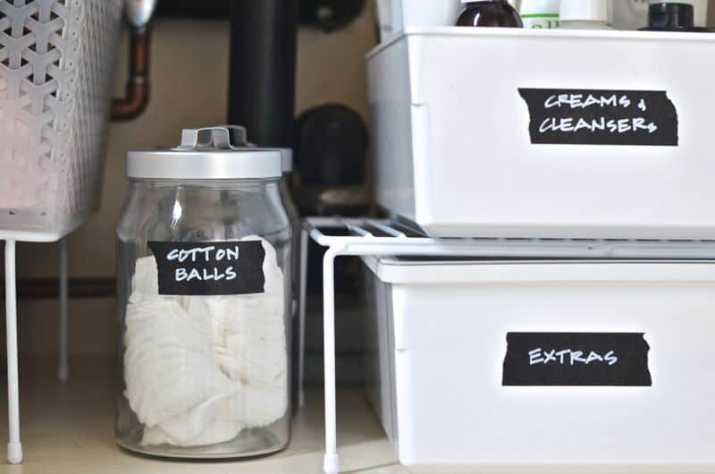 How to Organize Under a Bathroom Sink